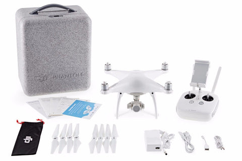 DJI Phantom 4 Drone Quadcopter 4K Camera Obstacle Avoidance w/ Battery & Case