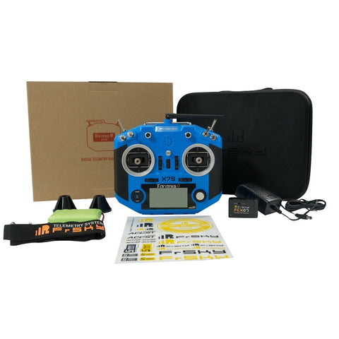 FRsky QX7S blue transmitter upgraded