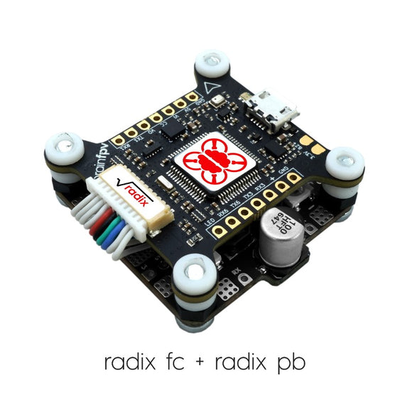 BrainFPV RADIX Flight Controller (Custom Graphical OSD, Baro, Stackable)