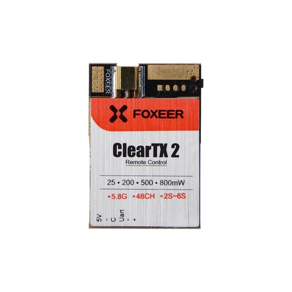 Foxeer ClearTX 2 - 5.8G 25/200/500/800mW Video Transmitter w/ Remote Control