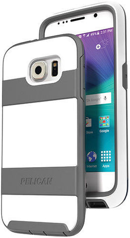 Pelican-ProGear-Voyager-Holster-Case-for-Samsung-Galaxy-S6-White-Gray