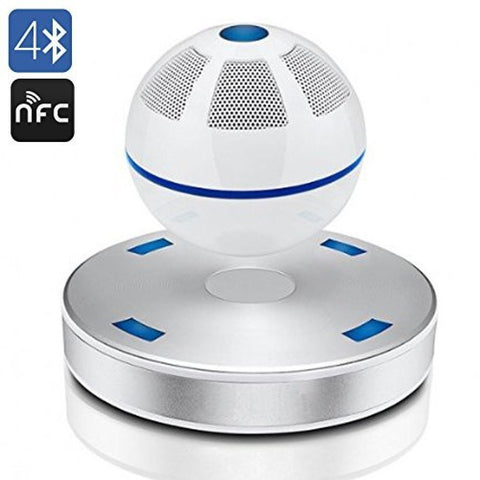 SainSonic SS-01 Portable Wireless Bluetooth Floating Levitating Maglev Speaker (White)