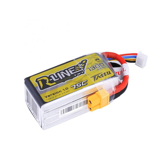 TATTU 1300mAh 4s 75c Lipo Battery (R-Line)