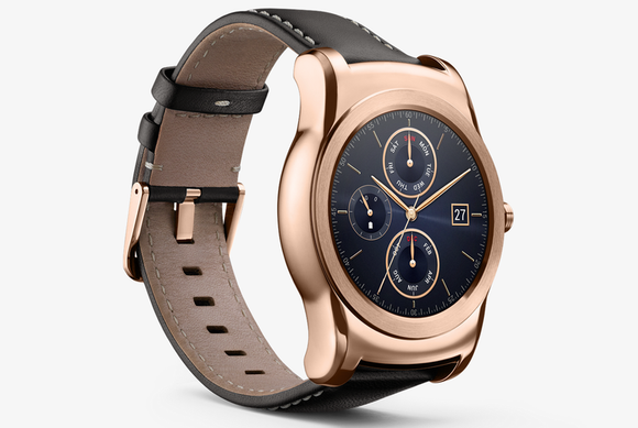 LG Watch Urbane Gold Android Smartwatch P-OLED Gorilla Glass Wi-Fi