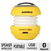 Axess Boombug Portable Speaker - Bluetooth Wireless  3.5mm Audio Jack, Built-In Battery