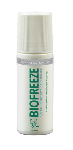 Biofreeze - 3oz Roll-On Dye-Free Prof Version - MedixSource