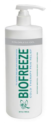 Biofreeze - 32oz Gel Pump Dye-Free Prof Version - MedixSource