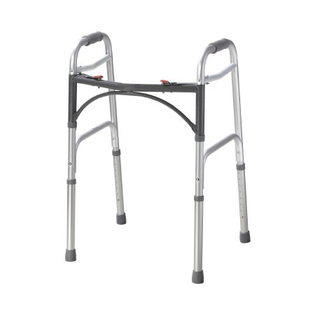 Folding Walker Adjustable Height McKesson Aluminum Frame 350 lbs. Weight Capacity 25 to 32 Inch Height