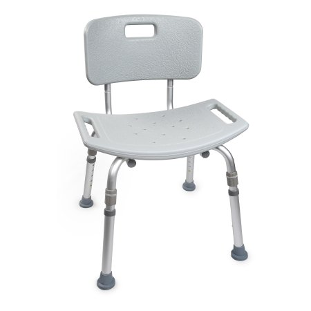 Bath Bench McKesson Fixed Handle Aluminum Frame Removable Back 19-1/4 Inch Seat Width