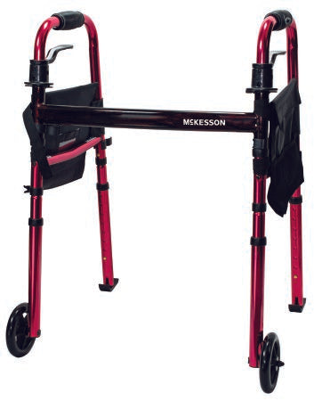 Travel Walker Adjustable Height McKesson Aluminum Frame 300 lbs. Weight Capacity 29-1/2 to 37 Inch Height