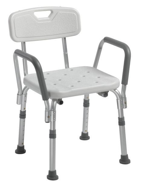 Shower Chair with Back and Removable Padded Arms - MedixSource