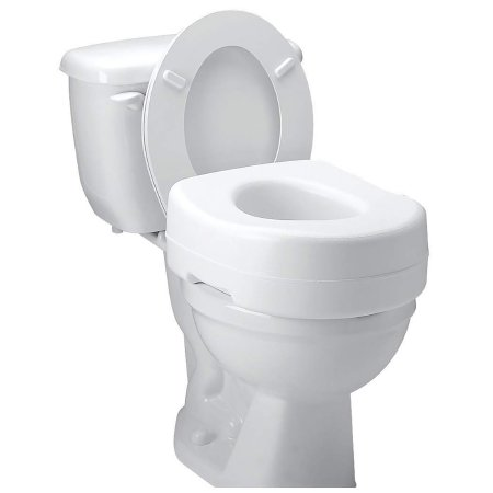 Raised Toilet Seat Carex® Economy 5-1/2 Inch Height White 300 lbs. Weight Capacity