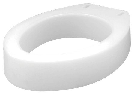 Apex-Carex Healthcare Carex Raised Toilet Seat - Elongated 3-1/2 Inch Height White 300 lbs. Weight Capacity