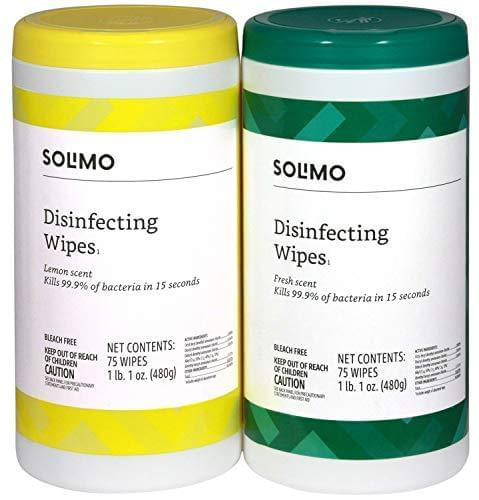 Solimo Disinfecting Wipes 75 Count - Pack of 3