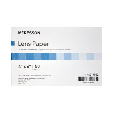 Lens Cleaner for Optical Instruments McKesson Soft, Thin 4 Inch x 6 Inch Paper Sheets Cleaning microscope eyepieces and Lenses