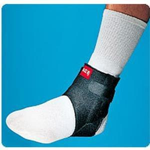 3M Ace® Ankle Brace with Side Stabilizers One Size Fits All, Black - MedixSource