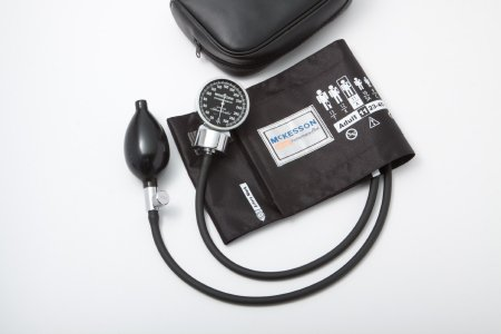 Aneroid Sphygmomanometer with Cuff McKesson LUMEON™ 2-Tube Pocket Size Hand Held Adult Large Cuff