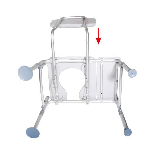 Combination Padded Transfer Bench/Commode - MedixSource