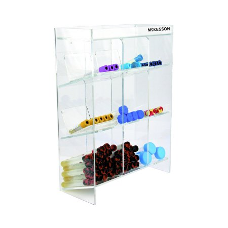 Tiered Tube Organizer McKesson 9 Place Clear 5-1/2 X 11-1/2 X 16 Inch