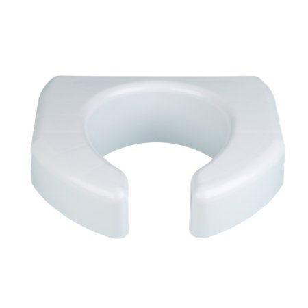 Raised Toilet Seat Ableware Basic 3 Inch Height White 350 lbs. Weight Capacity