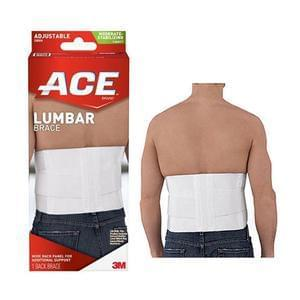 3M™ ACE™ Lumbar Support, with Six Rigid Stays, One Size, White - MedixSource