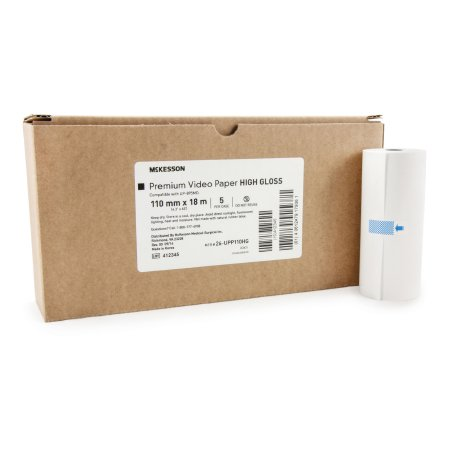 Media Recording Paper McKesson High Gloss Thermal Print Paper 110 mm X 18 Meter Roll
