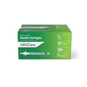 "Ultimed UltiCare™ Insulin Syringe 1cc, 30G x 1/2"" Needle"
