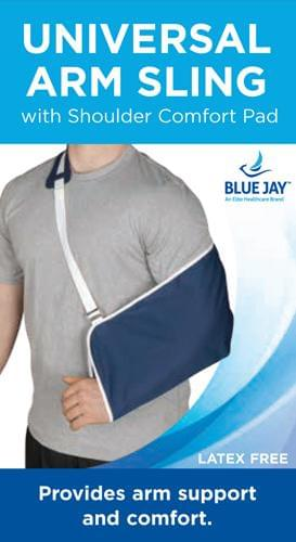 BlueJay Universal Arm Sling with Shoulder Comfort Pad-Blue - MedixSource