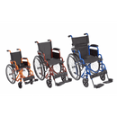 "Ziggo Wheelchair, Lightweight Folding, 16"", For Kids and Teens"