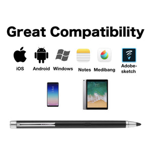 [IBIOPEN] stylus pen Includes replacement tip for iphone 8, iphone X, ipad air, ipad pro, Android and Windows Tablets (YELLOW)