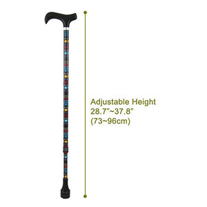 [DR. CANE] All-Terrain Adjustable Telescopic Cane w/ Cushioning System - Walking Cane With Maple Wood Handle