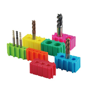 [Speed Tiger] End Mill Holders - Tool Storage & Display Brick Set (Fractional)