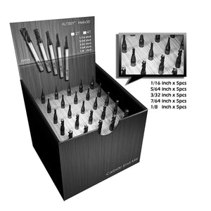 [Speed Tiger] ISE Carbide Square End Mill Set 4 Flute 25pcs in one box