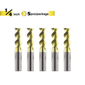 [Speed Tiger] IAE5 Carbide Square Nose End Mill with ZrN Coating for Aluminum Applications - 2 Flute