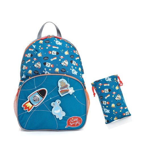 [Are We There Yet?] Space Dog Kids Backpack - Large