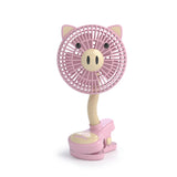 "Fanimal Clip-On Stroller Fan 5"" - USB / Battery Powered Baby / Mini Desk Fan with Assorted Animal Designs"