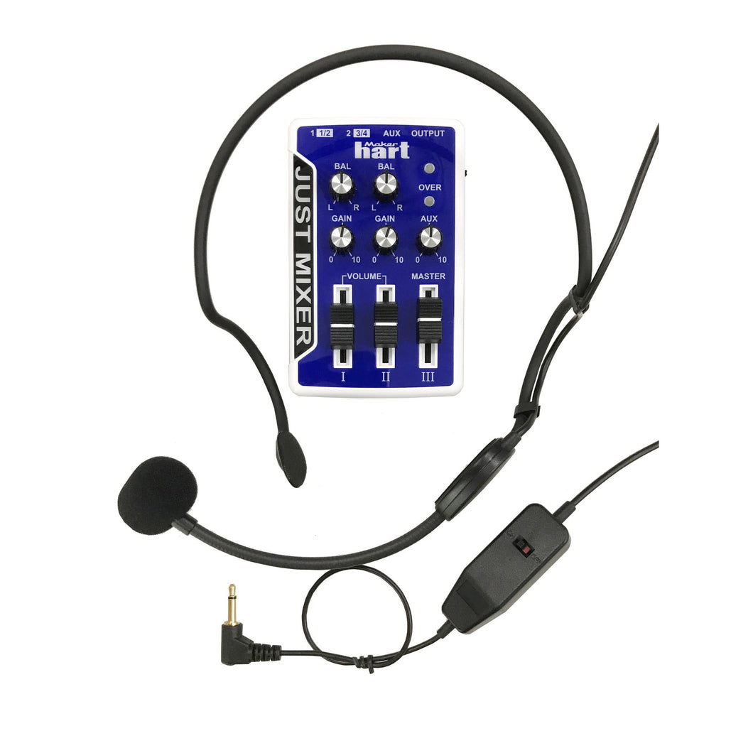 [Maker hart] Just Mixer  -  Stereo Audio Mixer + Professional Headset Microphone