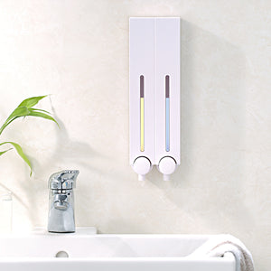 [Homepluz]  Square Wall-Mount Shampoo & Conditioner Dispenser