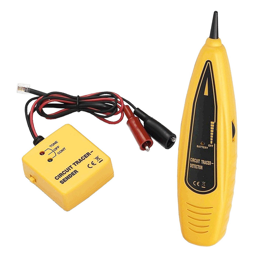 [PTE] Wire Tracer & Circuit Tester - Tone Generator and Probe Kit - Features Alligator Clips and RJ-11 Plug.