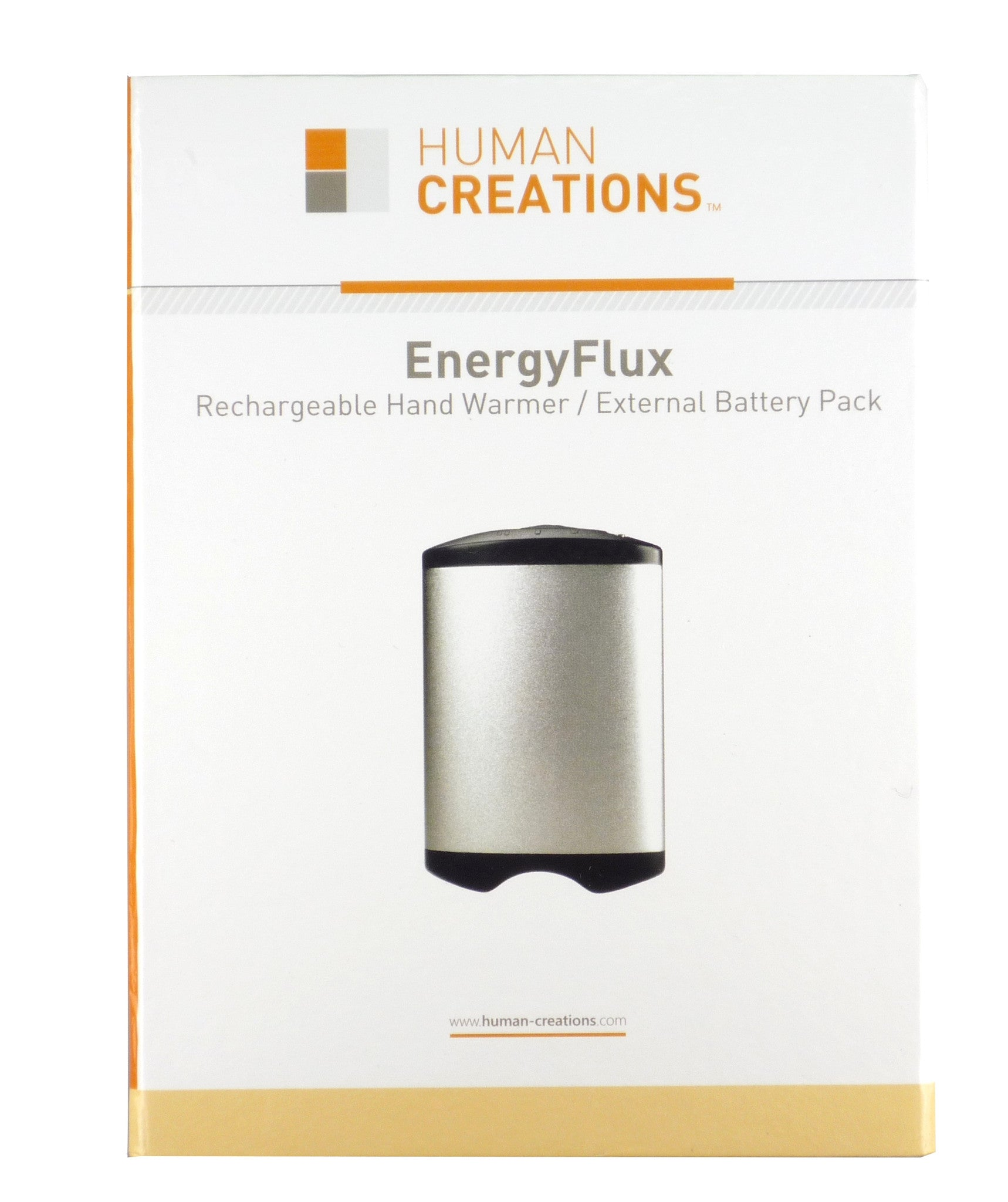 EnergyFlux 4400mAh Rechargeable Hand Warmer / USB External Battery Pack