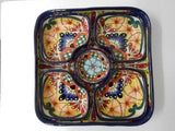 Square Serving Tray, 6-piece Talavera Dishware Set