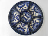 Talavera Ceramic Round Serving Tray, 7-piece  Dishware Set