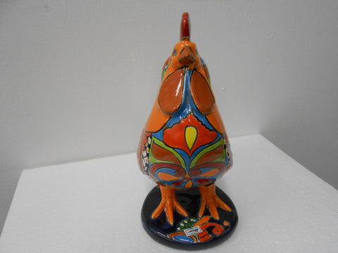 Talavera Ceramic Rooster, Decorative Figure