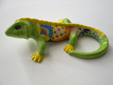 Iguana-Med, Talavera Ceramic Decorative Figures