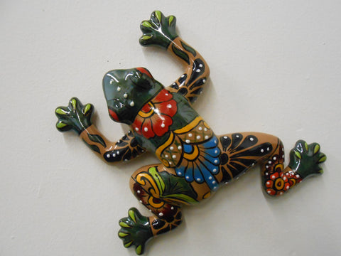 Frog-Med, Talavera Ceramic Decorative Figures