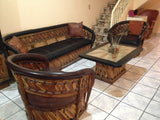 Love Seat, Equipales, Rustic Mexican Furniture, Authentic, Premium Leather