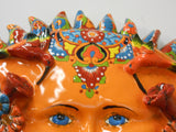 Talavera Ceramic Large Sun, wall mount