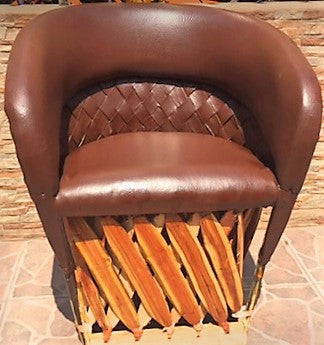 Equipales chair, Cancun Tequila edition, Custom made