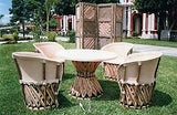 Dining Set 4 chairs, Equipales