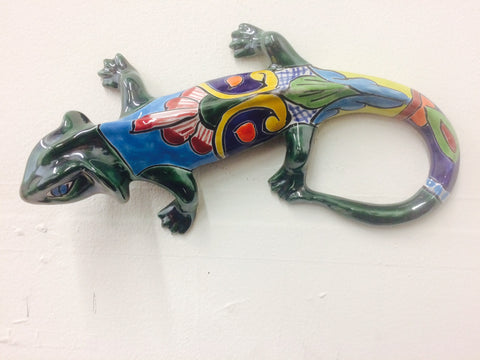 Iguana-Sm, Talavera Ceramic Decorative Figures